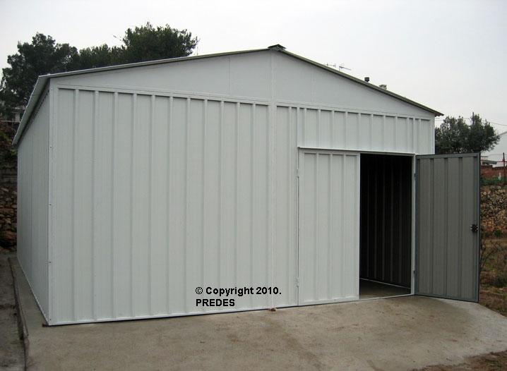 Predes almacenaje y almacenamiento almacenes y naves for Caseta de chapa desmontable