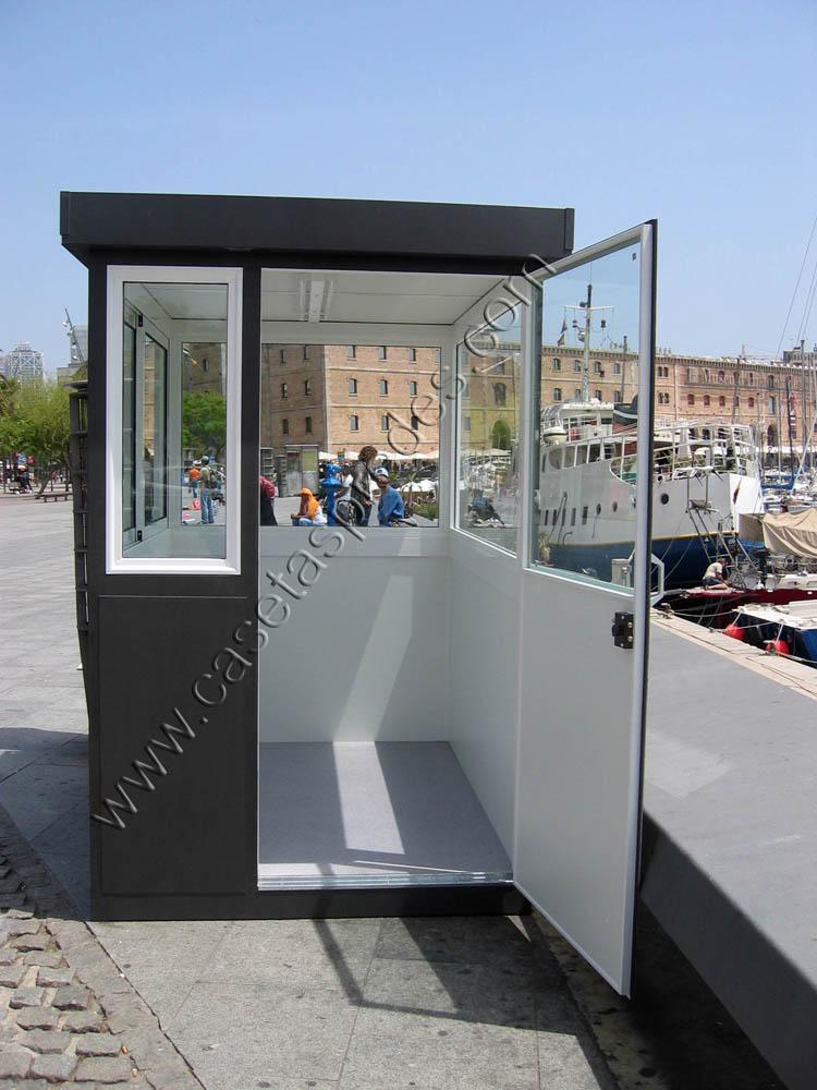 Cabinas de control casetas vigilancia casetas seguridad for Casetas de plastico para jardin