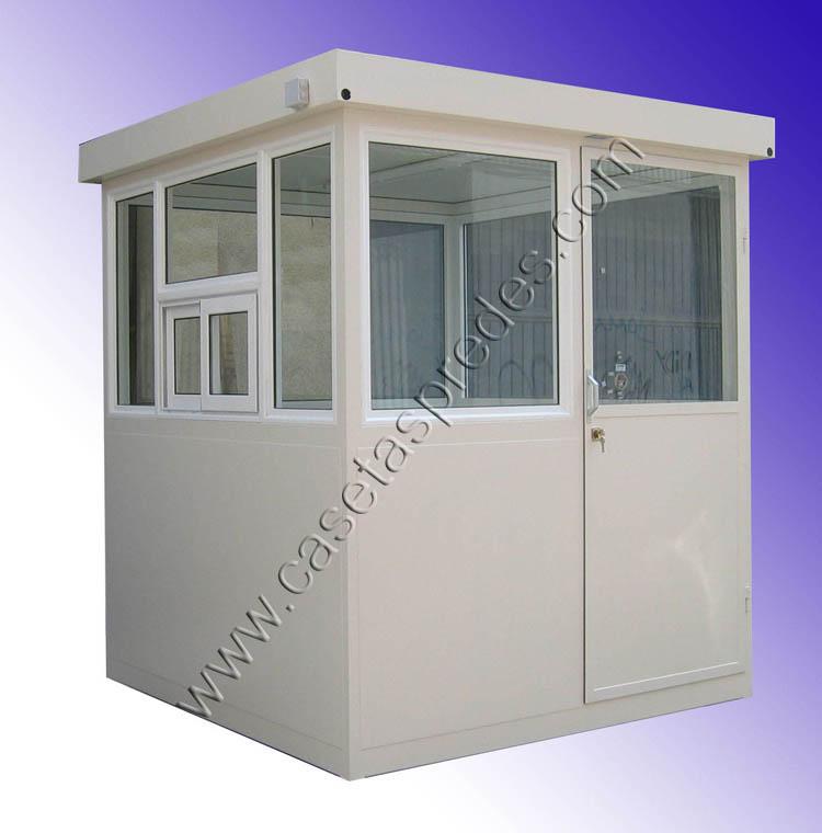 Cabinas de control casetas vigilancia casetas seguridad for Caseta de chapa desmontable